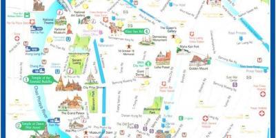 Bangkok Karte.Bangkoka Kartes Kartes Bangkoka Taizeme